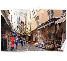 Shopping In Corfu Town, Greece. Poster