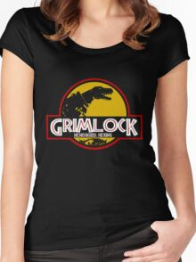 Grimlock (Jurassic Park) Women's Fitted Scoop T-Shirt