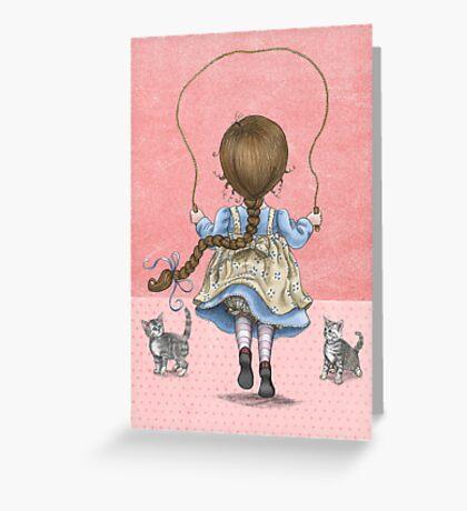 skipping girl Greeting Card
