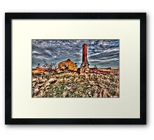 Collapsed at Collector. Framed Print