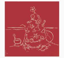 Australian Christmas in Red Tee by Gudrun Eckleben