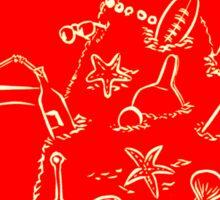 Australian Christmas in Red Tee Sticker