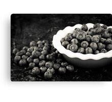 Blueberry Plate Canvas Print
