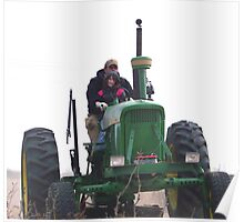 driven on the big green tractor Poster