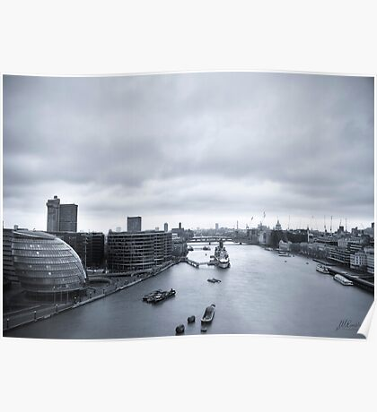 River Thames from Tower Bridge Poster