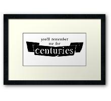 Centuries Framed Print