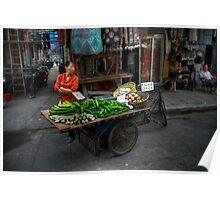 Veggie Trike Lady - Shanghai Poster