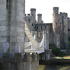 Conwy Castle & Telfords Suspension Bridge by JJsEscape
