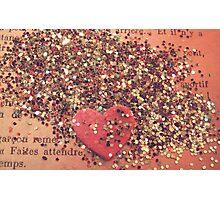 Vintage Heart Photographic Print