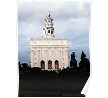 Nauvoo Illinois Temple at Dusk Poster