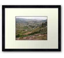 a colourful Uganda landscape Framed Print