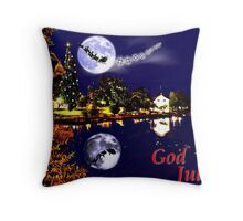 God Jul Throw Pillow