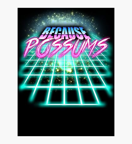 Because Possums (80's Sci-Fi) Photographic Print
