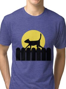 A Cat in a Long Dark Night Tri-blend T-Shirt