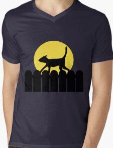 A Cat in a Long Dark Night Mens V-Neck T-Shirt