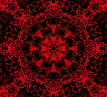 Deep Red Gothic Fleur by FireFairy