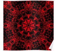 Deep Red Gothic Fleur Poster