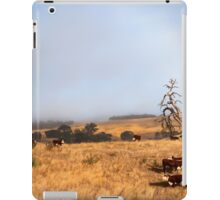 Herd of cows in paddock iPad Case/Skin