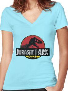 Jurassic ARK Women's Fitted V-Neck T-Shirt