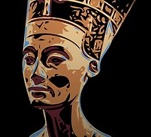 Bust of Nefertiti  the Great Royal Wife by DikHendriks