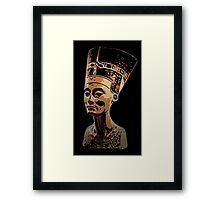 Bust of Nefertiti  the Great Royal Wife Framed Print