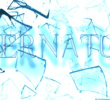 Supernatural text glass shatter 3 Sticker