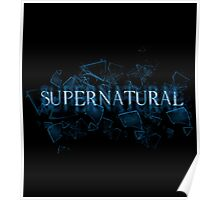 Supernatural text glass shatter 3 Poster