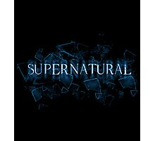 Supernatural text glass shatter 3 Photographic Print