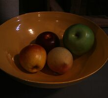 Bowl of Fake Fruit by patjila