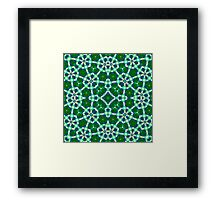 Green Blue Abstract Pattern Framed Print