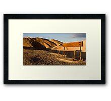 Benches at Zabriskie Point Framed Print