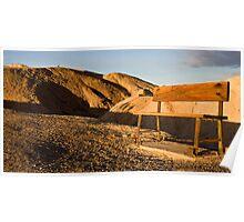 Benches at Zabriskie Point Poster
