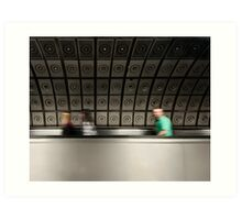 Waterloo Tube Station Art Print