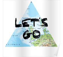 Let's Go! Triangular Europe Map Poster