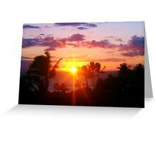 Hawaiin Sunset IV Greeting Card