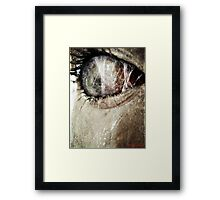 The Price of Peeping. Framed Print