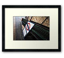 West Brompton Tube Station Framed Print