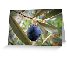 An olive at the branch Greeting Card
