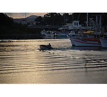 Port at dusk Photographic Print