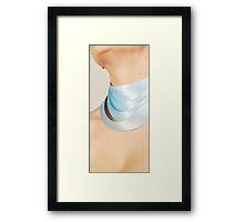 Blue Ribbon Necklace Framed Print