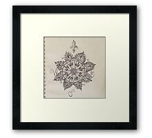 Compass Mandala Framed Print