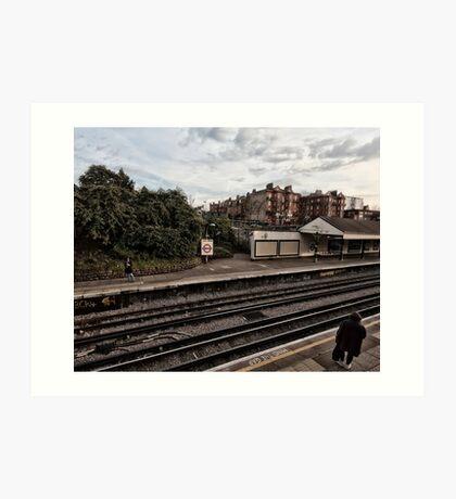 West Kensington Tube Station Art Print