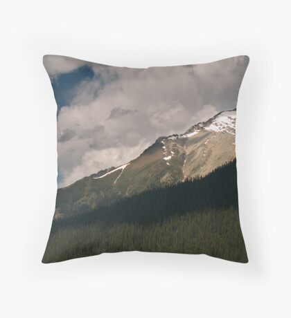 Landscape from the Maligne Lake , Jasper National Park , Canada Throw Pillow