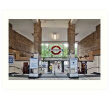 White City Tube Station Art Print