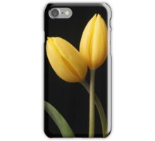 Yellow tulips with leaf iPhone Case/Skin