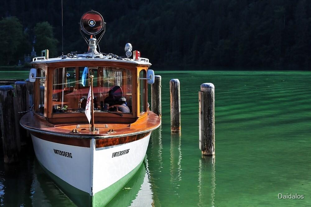 Boat on Green Water by Daidalos