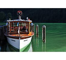 Boat on Green Water Photographic Print