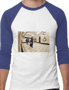 Wood Green Tube Station Men's Baseball ¾ T-Shirt