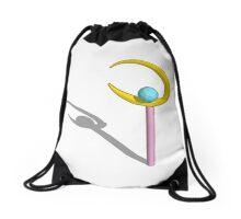 3d render of sailor moon crescent wand Drawstring Bag