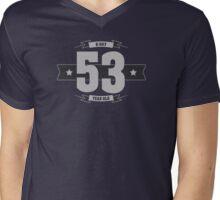 B-day 53 (Light&Darkgrey) Mens V-Neck T-Shirt